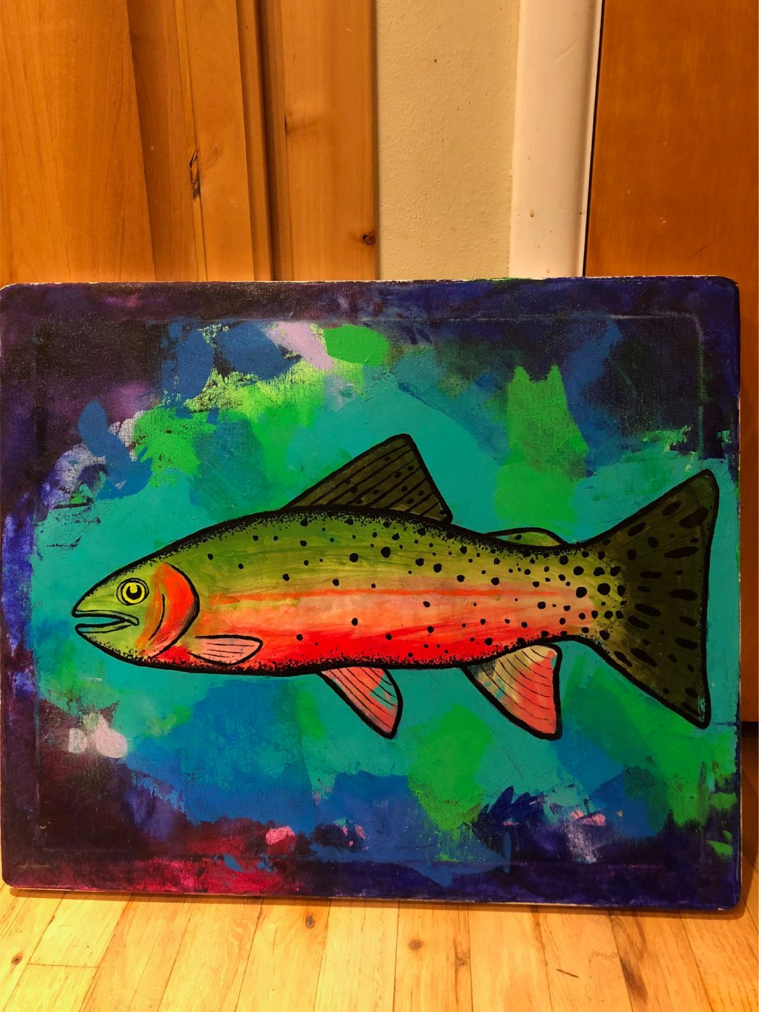 Painting of a Cutthroat Trout