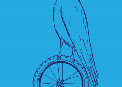 Birds with Bike Tires